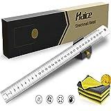Indicador de metal Haice GC104, herramienta de marcado con regla extra estable, herramienta de marcado, regla de medición de herramienta de medición de bricolaje con 30 cm