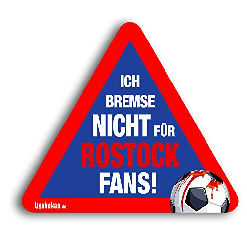 Kfz-Aufkleber Ich Bremse Nicht für Rostock-Fans | Für mehr Spaß im Verkehr für alle Kiel-, St.Pauli-, Fc Magdeburg- & Fußball-Fans | Vereinsaufkleber - PKW Auto Kfz Aufkleber