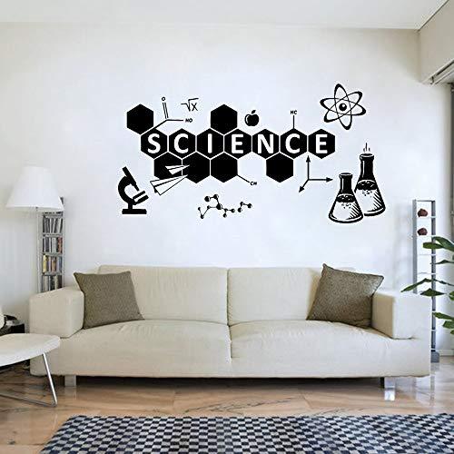 QQCYWZK Wissenschaft Wandtattoo Chemie Vinyl Aufkleber Eon Klassenzimmer Wanddekor Wandbild Home Ornament Teen Schlafzimmer Dekoration Aufkleber 80x42cm