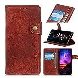 Custodia® Flip Wallet Case for LG K50S (Brown)