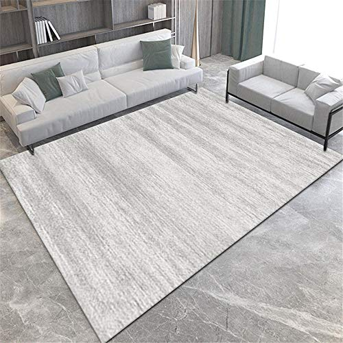 La alfombras Alfombra niños Alfombra de diseño Minimalista Color Crema Gris fácil de Limpiar y Lavable decoración habitación Juvenil Alfombra Bebe 60*90CM