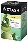 Stash Tea Sweet Honeydew, 18 Count Teabags in Foil (Pack of 6) Individual Green Tea Bags for Use in Teapots Mugs or Cups, Brew Hot Tea or Iced Tea