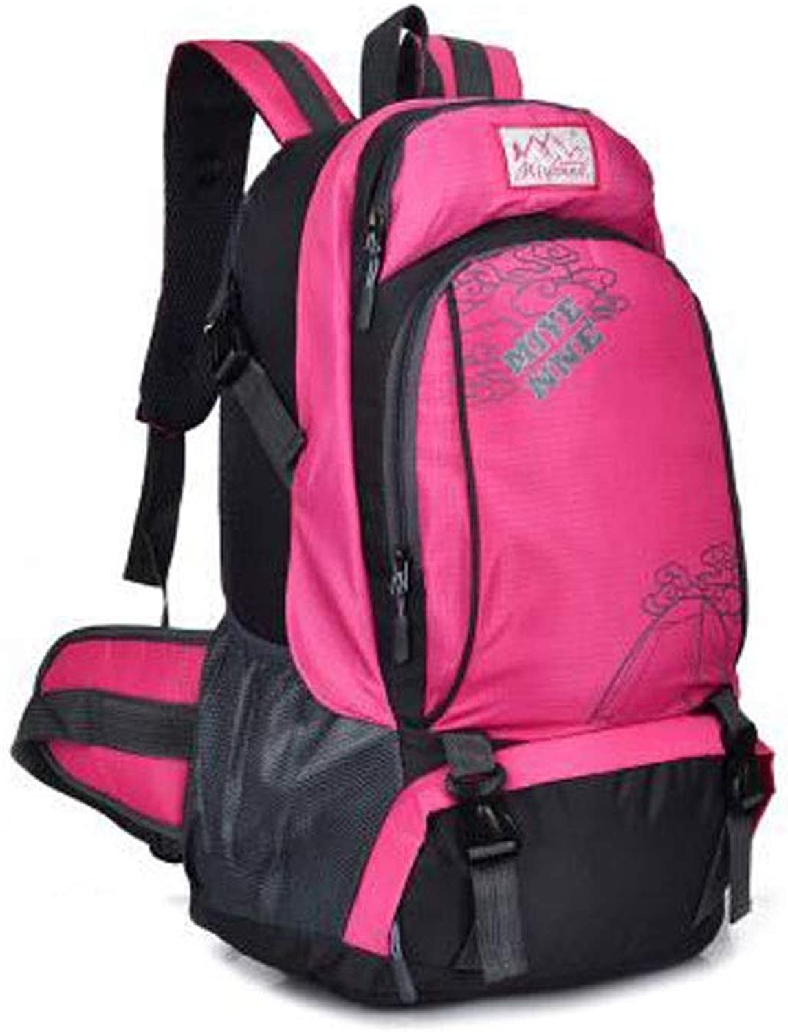 HENG LargeCapacity Backpack, Outdoor Mountaineering Bag Travel & Hiking Backpack, Sports Bag, Travel & Hiking Backpack,Black, pink Red, Red, Yellow, bluee, Green for Hiking, Traveling & Camping