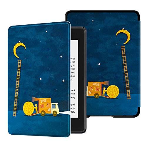 HUASIRU Gemälde Hülle Schutzhülle Kindle Paperwhite (10. Generation, 2018 Veröffentlicht) Hülle Cover, Mond