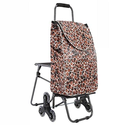 ZYDSD Carro de la compra escaleras para subir carros portaequipajes plegables carro de carro con sillas carro de la compra portátil carro carros grueso resistente al desgaste impermeable Carro de mano
