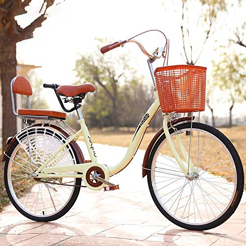 Urban Commuter Bike, bicicleta de ciudad para hombre y mujer, bicicleta de ciudad ligera de 24 pulgadas para montar en la ciudad y desplazamientos, incluye bomba, cerradura de bicicleta, A