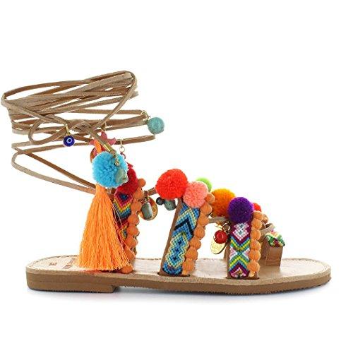 Zapatos de Mujer Sandalia Pompones Chili Mango Dimitra'S Workshop Primavera Verano 2018