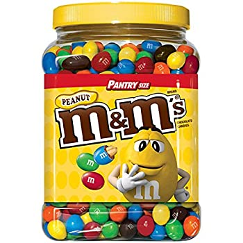M&M S Chocolate Candy Pantry 3.87 Pound Peanut 124 Oz  Pack of 2