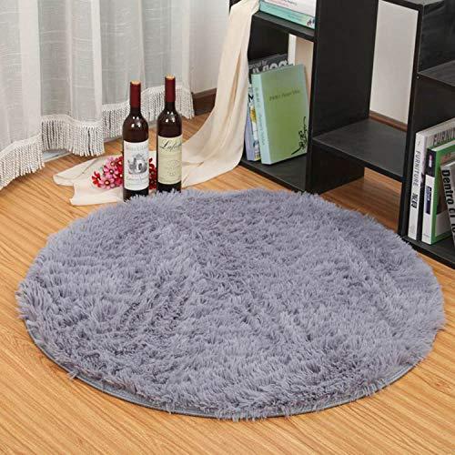 Topchances - Alfombra de dormitorio, alfombras circulares muy suaves, alfombras para sala de estar,...