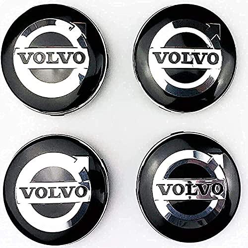 El Centro de Rueda de Coche Cubierta de la Etiqueta engomada Casquillos de Eje tapacubos Emblema de la Insignia Covers Adhesivos para Volvo S40 S60 S80L XC60 XC90,56mm