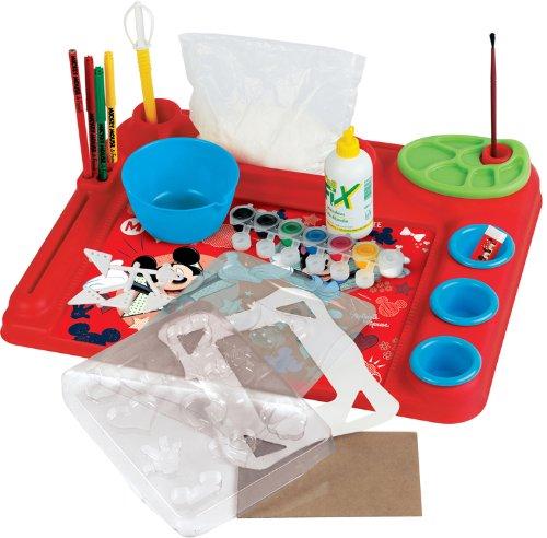 Faro - 5411 - Kit De Loisirs Créatifs - Bureau De L'artiste Multi-activités - Mickey Et Ses Amis - Pate A Sel - Peinture - Dessin 44 X 36 X 5,5 Cm