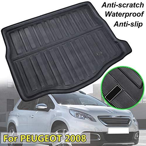 XIANGSHAN Fit For Peugeot 2008 2013-2018 Rear Trunk Liner Boot Cargo Mat Tray Floor Carpet Mud Kick Pad Protector 2014 2015 2016