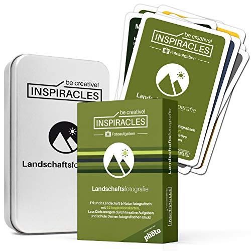 Foto Aufgaben Landschaftsfotografie - Inspiration & Fotografieren Lernen mit 52 Aufgabenkarten, Edition Landschaft und Natur, in Metalldose