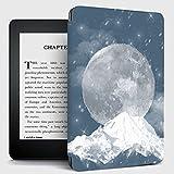 Funda para Kindle,Funda Kindle Moon Snow Mountain Pattern Flip Back Case Compatible con Kindle Paperwhite 10Th Generation Kindle 7Th Generation Auto Sleep / Wake Case, No.Dp75Sdi