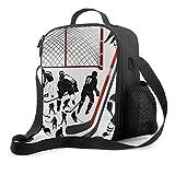 NE Pranzo al sacco premium, borsa da pranzo isolata per giocatore di hockey per uomo, donna, adulto, pranzo al sacco da spiaggia, picnic, lavoro d'ufficio