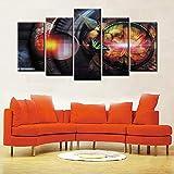 adgkitb canvas 5 Piezas de Pintura de Imagen, Arte de Pared, decoración de habitación, Serie de póster de película, imágenes de Pared para Sala de Estar
