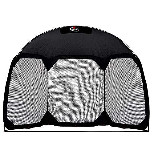 GALILEO Batting Cage Backstop Net Baseball Practice Net with Carry Bag Baseball Practice Screens 11.5'(L) X6'(W) X9.6'(H) Black Net