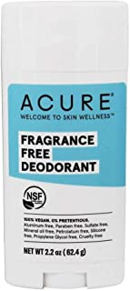 ACURE Fragrance Free Deodorant | 100% Vegan | For Sensitive Skin | NSF Certified - Contains Organic Ingredients | Aluminum...