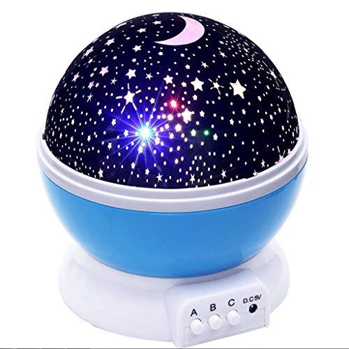 HD Veilleuses HUANGDA Projecteur de Nuit à LED Projecteur Moon Light Batterie USB Cadeau pour Enfants Lampe de Chambre à Coucher pour Enfants Lampe de Projection (Color : A)