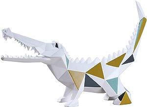 Amoy-Art Figurillas Decorativas con Diseño Cocodrilo Escultura Figura Estatua Regalo Decoración para el Hogar Sala de Estar Oficina Animal Crocodile Figurine Statue Casa Resina 27cmH