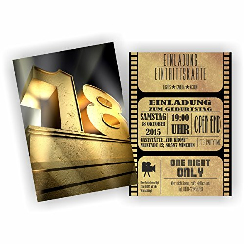 Einladung BLOCKBUSTER I KINO FILM THEATER zum 18. Geburtstag (40 Stück)
