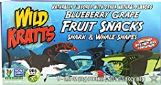 Wild Kratts, Blueberry Grape Fruit Snacks Shark & Whale Shapes, 6 CT