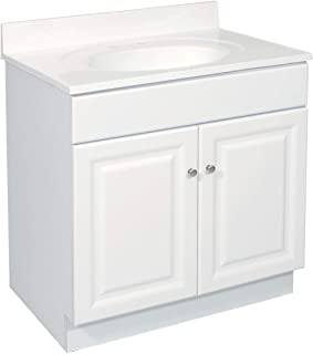 Design House 531939 Wyndham Ready-To-Assemble 2 Door Vanity, White, 24-Inches Wide by 31.5-Inches Tall by 21-Inches Deep