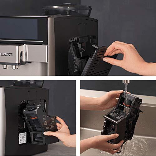 Siemens EQ.6 Plus s500 TE655203RW – Machine à café automatique avec écran sensitif et texte clair – 12 recettes de café et lactée – iAroma System et Aroma DoubleShot – Couleur : Noir / Inox