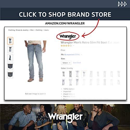 Wrangler Sport Western - Camisa de manga larga para hombre, Sport Western - playera de manga larga, L, Bronceado oscuro
