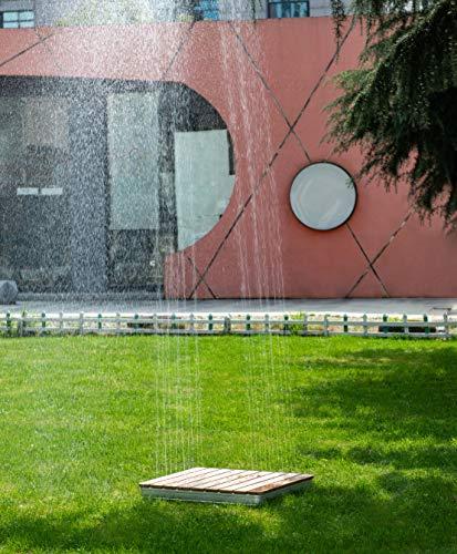 WaWoSa Doccetta da giardino GaRai Highline Deluxe, doccia a pavimento con fontana d'acqua 2-4 metri,...