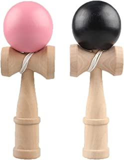 けん玉 2個セット (ピンク、ブラック) 剣玉 けん玉教室 練習用 競技用 kendama