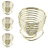 LINVINC Set di 1/4 Porta Uova a Spirale in Metallo - Portauova in Metallo Oro Rosa, Argento, Rame Portauova per Uova Accessori da Cucina