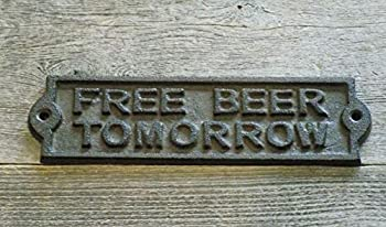 MIDWEST CRAFT HOUSE CAST Iron Free Beer Tomorrow Sign  1