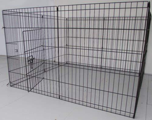 BUNNY BUSINESS Gehege für Kaninchen/Meerschweinchen/Hunde/Katzen, 8 Zaunelemente, klein, silberfarben - 2