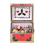 Zerodis Maßstab 1/12 Puppenhaus Miniatur Dekoration Möbel Tasche Weihnachten Schatzkiste...