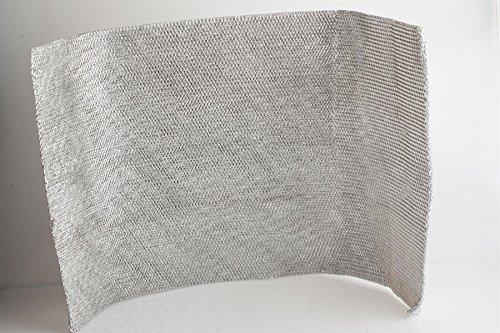 Metallfettfiltermatte Universal 900x470mm, Filtermatte Metall für Dunstabzugshaube, zuschneidbar