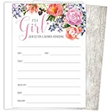 """It's a Girl Baby Shower Invitations Set of 25 Fill-In Style 4.25"""" x 6"""" Cards and A6 Envelopes. Printed on Heavy Card Stock."""