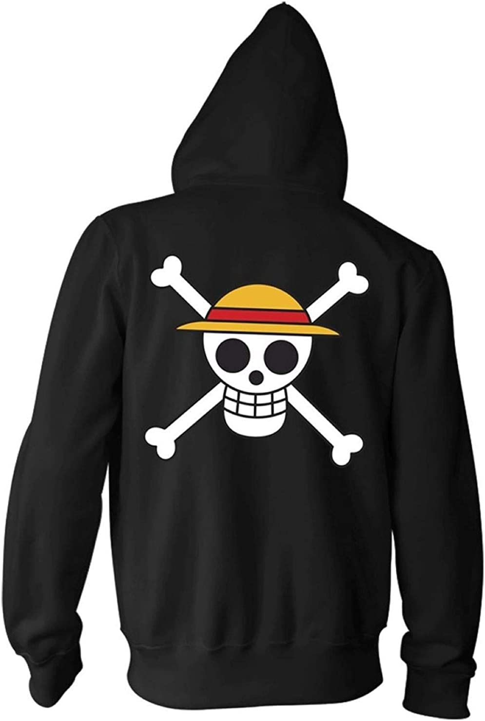 Ripple Sales results No. 1 Junction One Piece Adult Las Vegas Mall Luffy Hat Zip Hoodi Fleece Straw