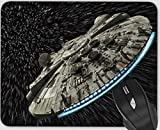 Mouse Pads, Personalized Design Rectangle Mouse Mat for Cute Women, Girls, Non-Slip Rubber Mousepad for Office Computers Laptop (Star-Wars)