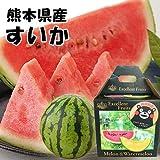 【 熊本県産 】 すいか 西瓜 秀品 3kg~4kg