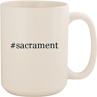 #sacrament - White Hashtag 15oz Ceramic Coffee Mug Cup