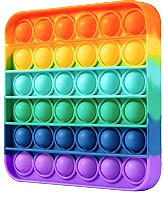 Nuevo arco iris cuadrado Pop it fidget juguete de PAU