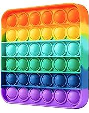 New Rainbow square Pop it fidget toy