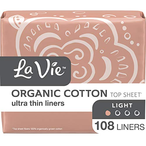 La Vie Organic Cotton Top Sheet* Feminine Pads with Wings, Heavy Absorbency, Long, 60 Count (3 Bags of 20)