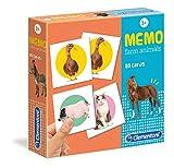 Clementoni - 18076 - Memo Games - Farm Animals, gioco di memoria e associazione, gioco educativo bambini 3 anni, gioco da tavolo per bambini - Made in Italy