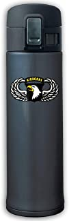 XQFwylms Vintage 101th Airborne Insignia Unisex Vacuum Cup Stainless Steel Thermos Tumblers Thermos with Bounce Cover