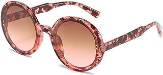 EFXGYHSAQ - Gafas De Sol Hombre Mujeres Ciclismo Gafas Graduadas para Hombre Y Mujer, Gafas De Sol Redondas con Montura Pequeña, Gafas De Sol Rosas Unisex De Moda para Hombre Y Mujer