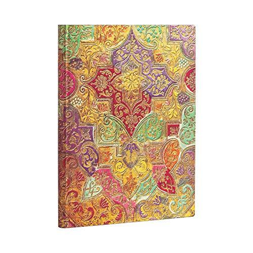 Paperblanks Bloc de notas de tapa blanda Flexis, papel brocado, rayado, ultra (180 × 230 mm)