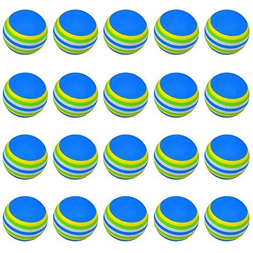 BETOY Üben Sie Golfbälle,Golfbälle aus Schaumstoff für Anfänger, Kinder und Amateure, Golfschwung-Trainingshilfen für Indoor-Übungen, 20 Stück, blau