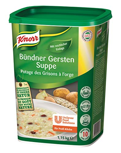 Knorr Bündner Gersten Suppe (mit reichlich Einlage) 1er Pack (1 x 1,15kg)